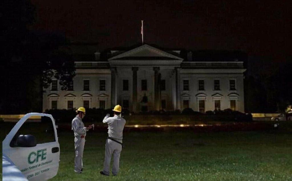 Reportan que en breve repararán el apagón en la Casa Blanca