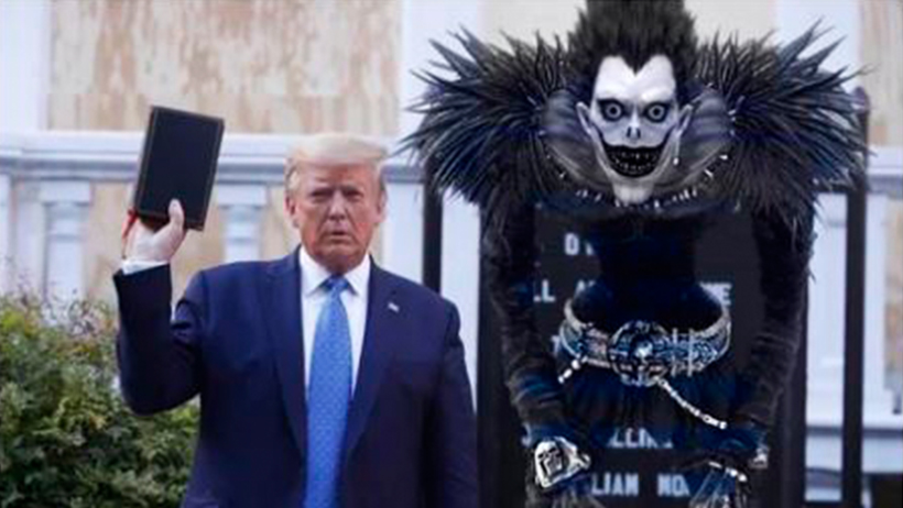 Cover Donald Trump Death Note Disturbios