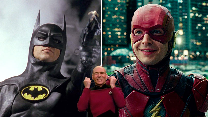 Cover Michael Keaton Batman Flash Ezra Miller