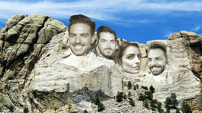 Cambiarían las efigies del Monte Rushmore para colocar a los Derbez en su lugar