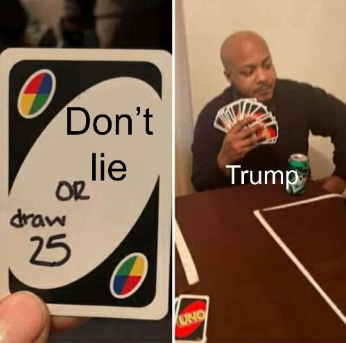 Donald Trump playing Uno