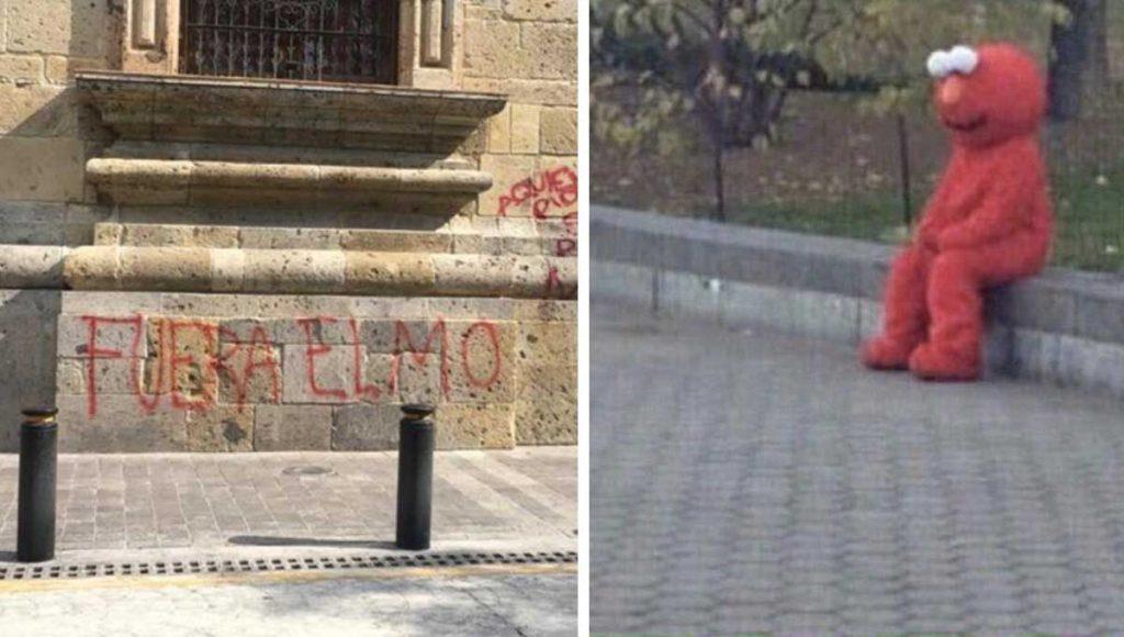 Elmo escapa del país por protestas en su contra