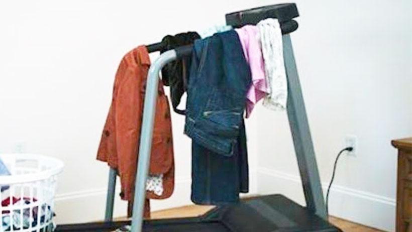 Joven monta su propio gimnasio en casa y tampoco va