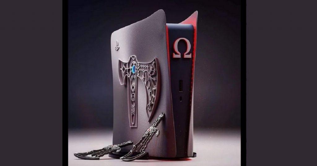 Así se vería el nuevo PS5 edición especial de God of War (FOTO)