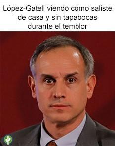 Hugo Lopez-Gatell temblor cuarentena