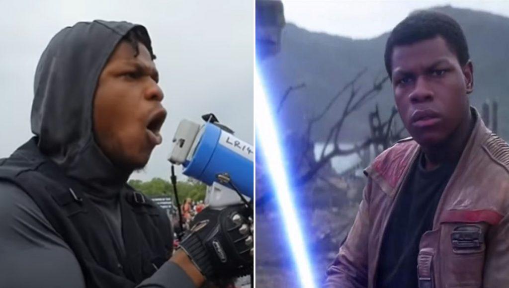 Derrotando al imperio nivel: Finn de Star Wars al frente de manifestaciones por George Floyd