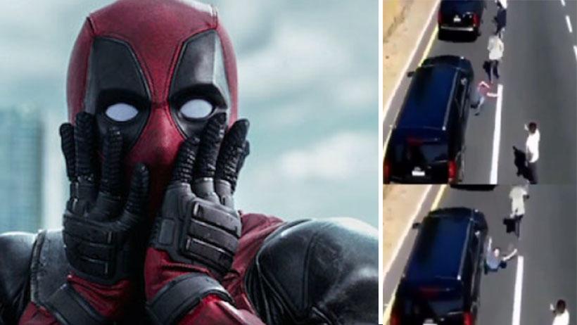 ¿Deadpool eres tú? Comitiva del presidente atropella a manifestante y resultó ileso