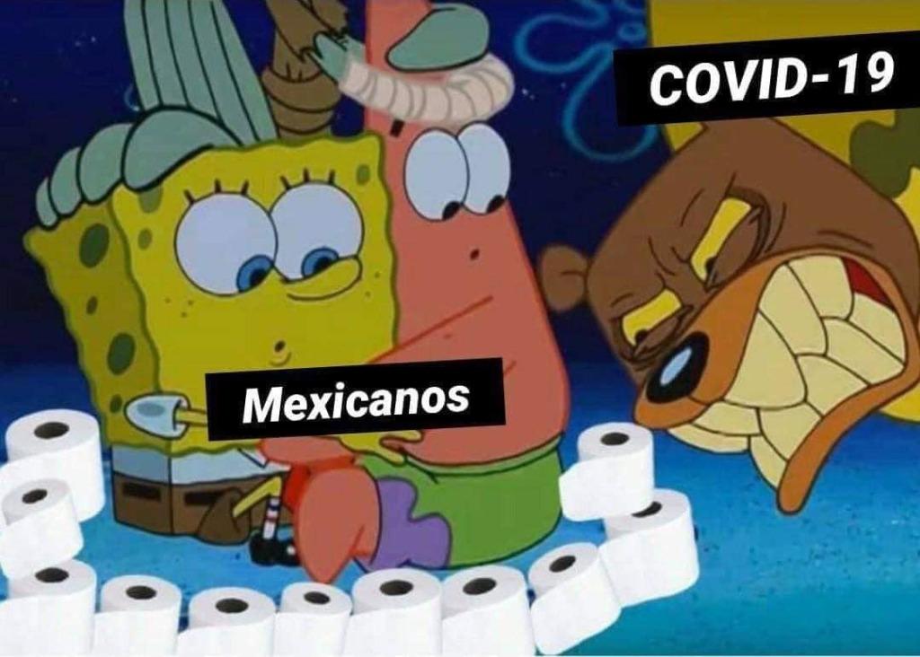 mexicanos covid papel de baño meme