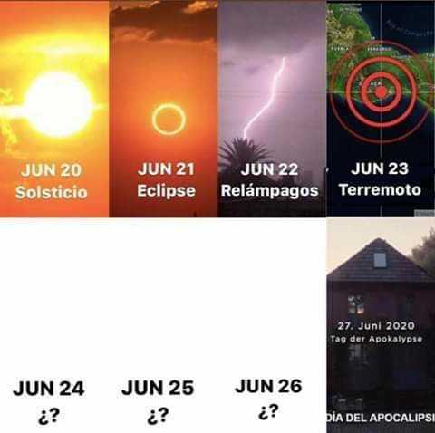 Meme junio apocalipsis catastrofes 2020