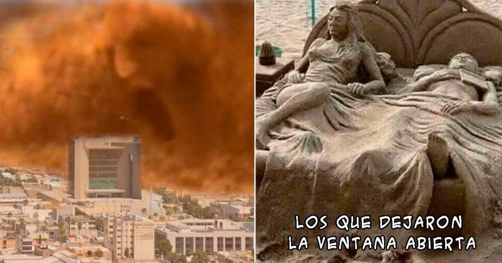 Torreón tolvanera tormenta Sahara