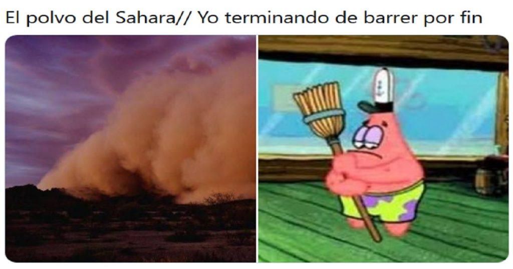 Saquen la escoba: Los memes de la nube de polvo del Sahara y su llegada a México
