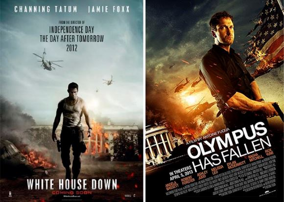 Olympus Has Fallen White House Down posters