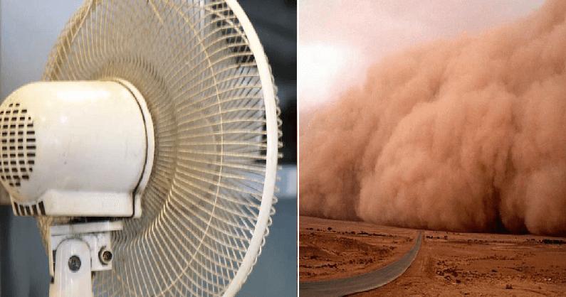 Personas que nunca han limpiado su ventilador se dicen preocupadas por el polvo del Sahara