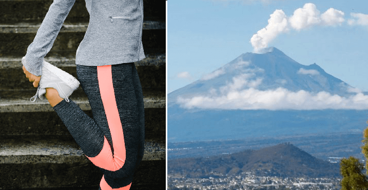 Captan al Popocatépetl haciendo estiramiento porque ya sigue su turno