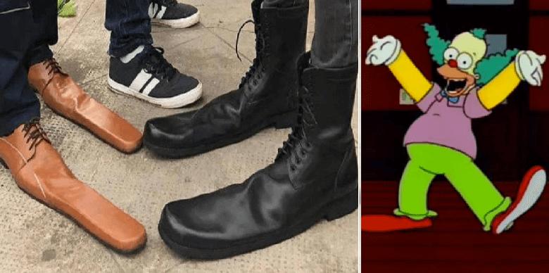 A Krusty le gusta esto: crean zapatos enormes para 'distanciamiento social'