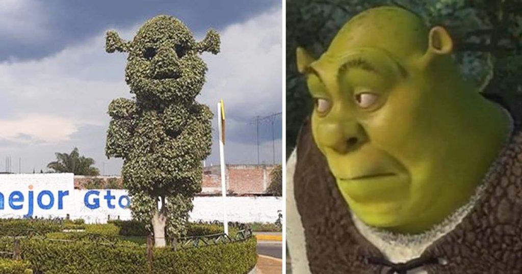 Todo lo que sabemos del árbol con forma de Shrek que apareció en México