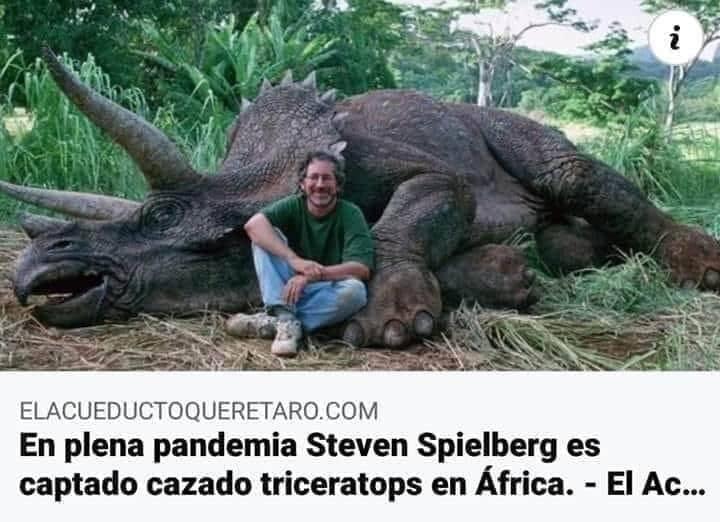 steven spielberg triceratops