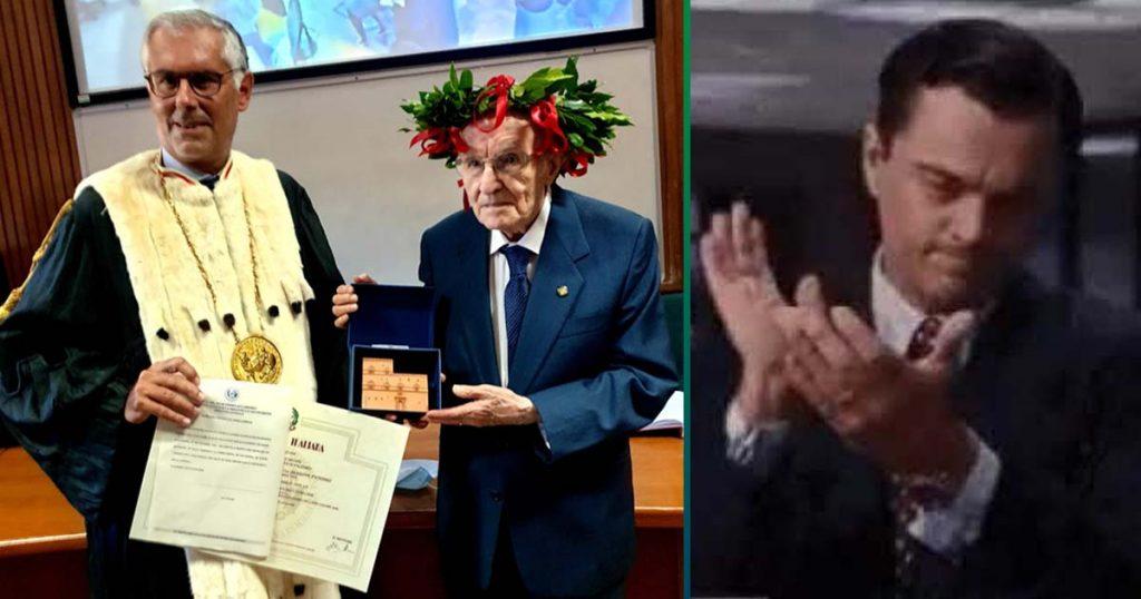 Y tú sigues sin acabar la tesis: este señor de 96 años ya se tituló en Filosofía