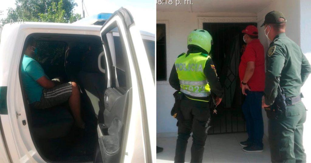 Cuarentena alcalde entrega a su hijo a la policía