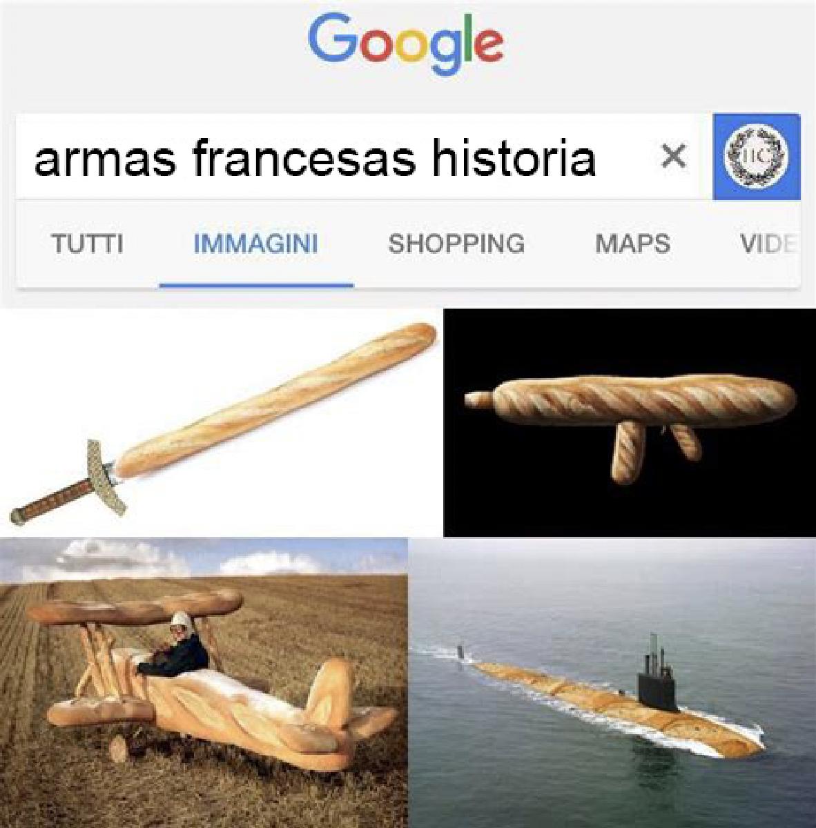 Armas francesas meme