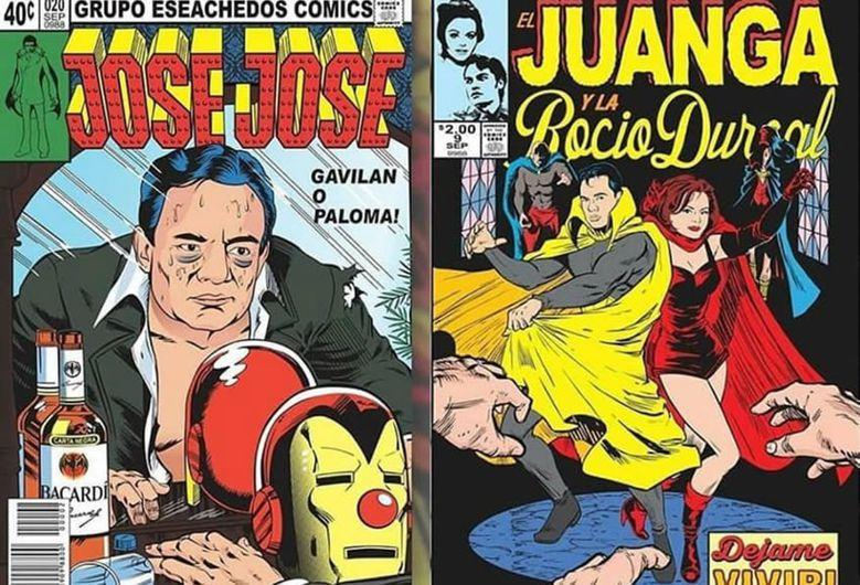 Comics José José Juanga Rocío Durcal// Avengers Mexicanos