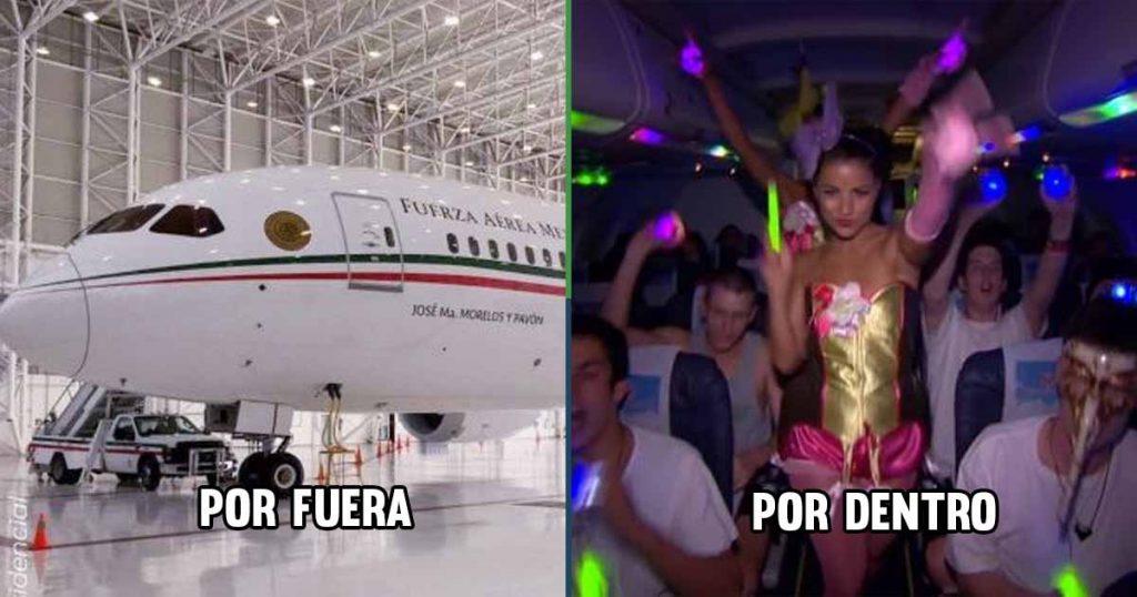 avión presidencial renta fiestas
