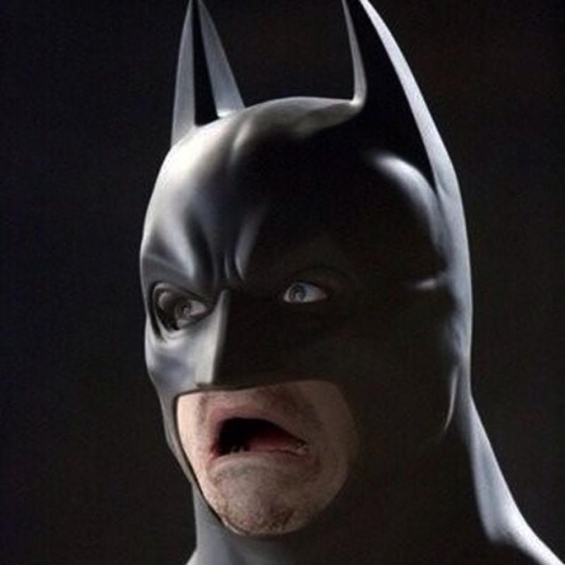 Batman Scared Funny Face