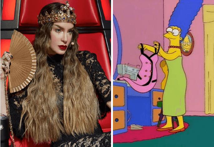 Está dura la crisis: Belinda repite vestido en 'La Voz' que había usado hace 6 años