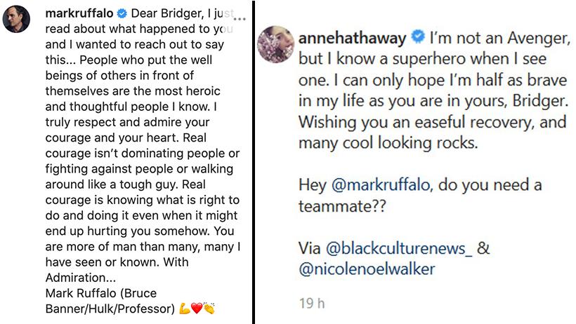 Bridger Walker Avengers Mark Ruffalo Anne Hathaway
