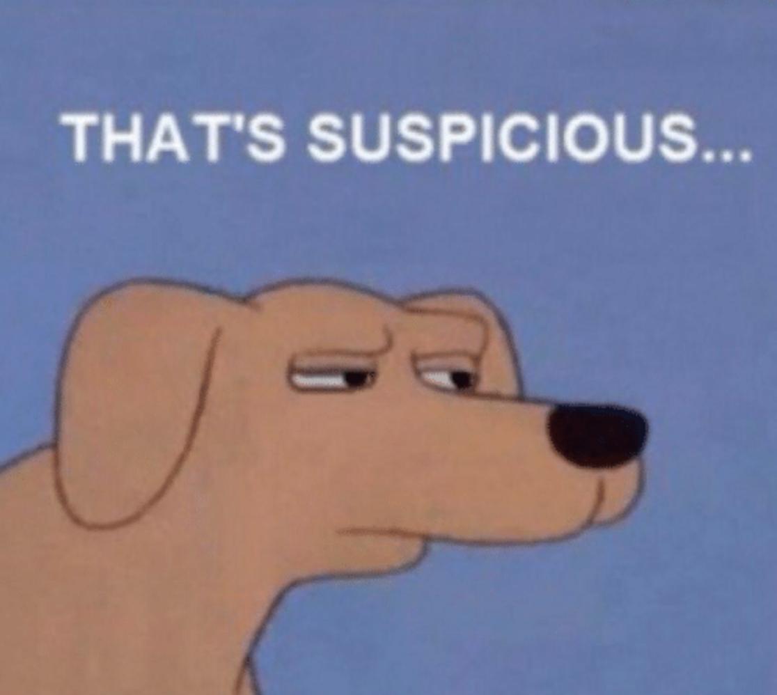 suspicious meme