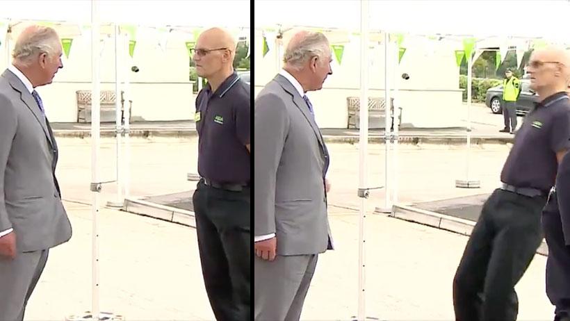 Príncipe Carlos empleado se desmaya video