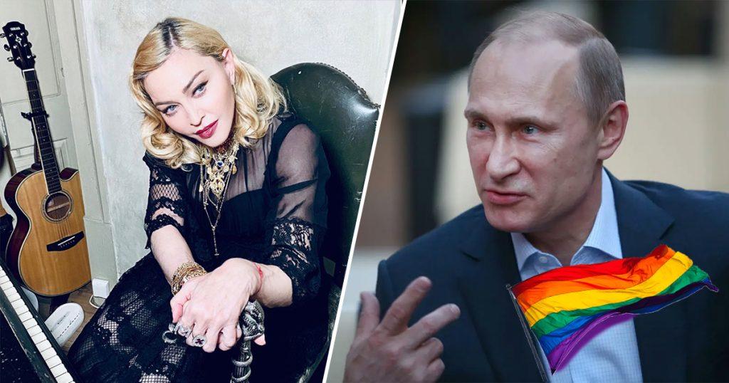 Cover Madonna Rusia Multa LGBT