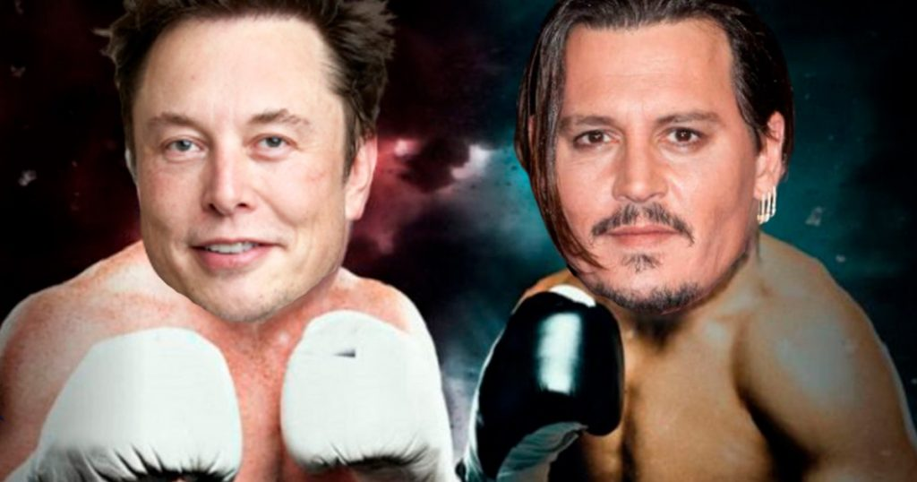 Johnny Depp elon musk pelea en el ring