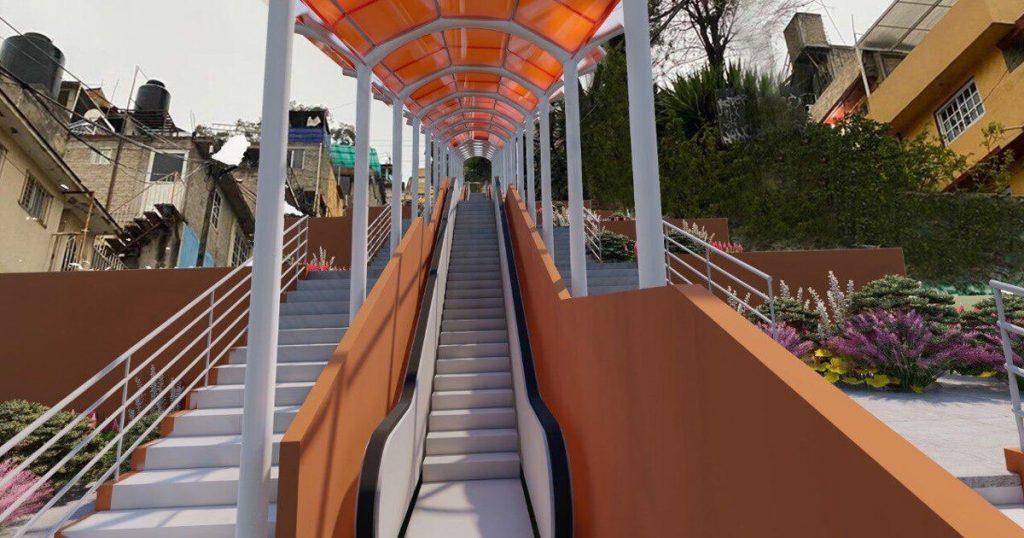 Chilangos inaugurarán escalera eléctrica con platillo y bombo