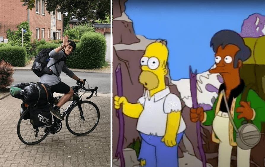 Si te cancelan el vuelo de avión, vuelve a tu casa en bici… aunque te tardes 48 días