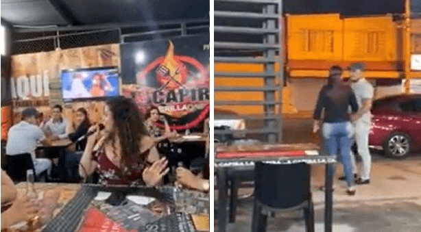 Mujer se encuentra a su ex en karaoke y le dedica una canción enfrente de la novia nueva