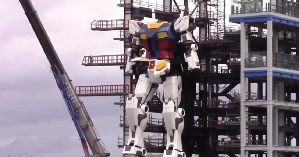 Del anime al mundo real: Robot Gundam gigante da sus primeros pasos (VIDEO)