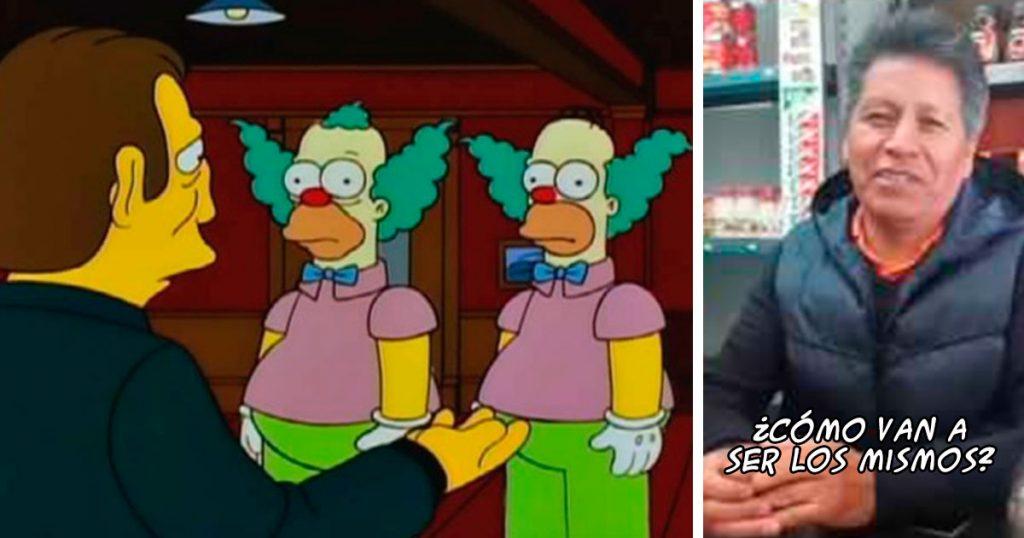 ¿Crees que Homero y Krusty son idénticos por error? Estás mal, Esperancita