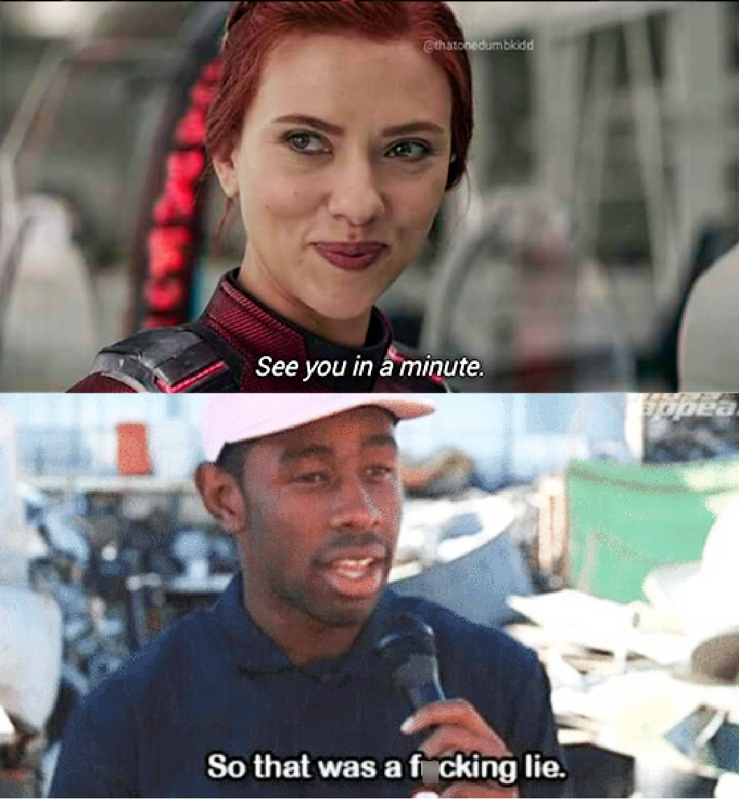 I see you in a minute avengers meme