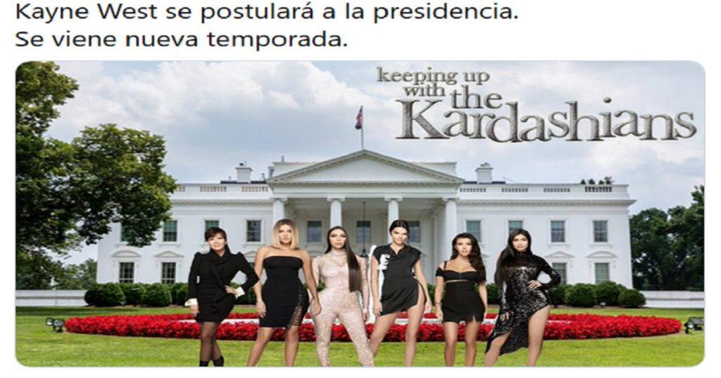 El anuncio de Kanye West para presidente de Estados Unidos , en memes