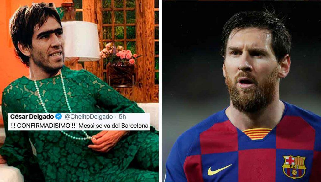 Chelito Delgado se volvió Paty Chapoy y tiró el chisme de que Messi se va del Barcelona
