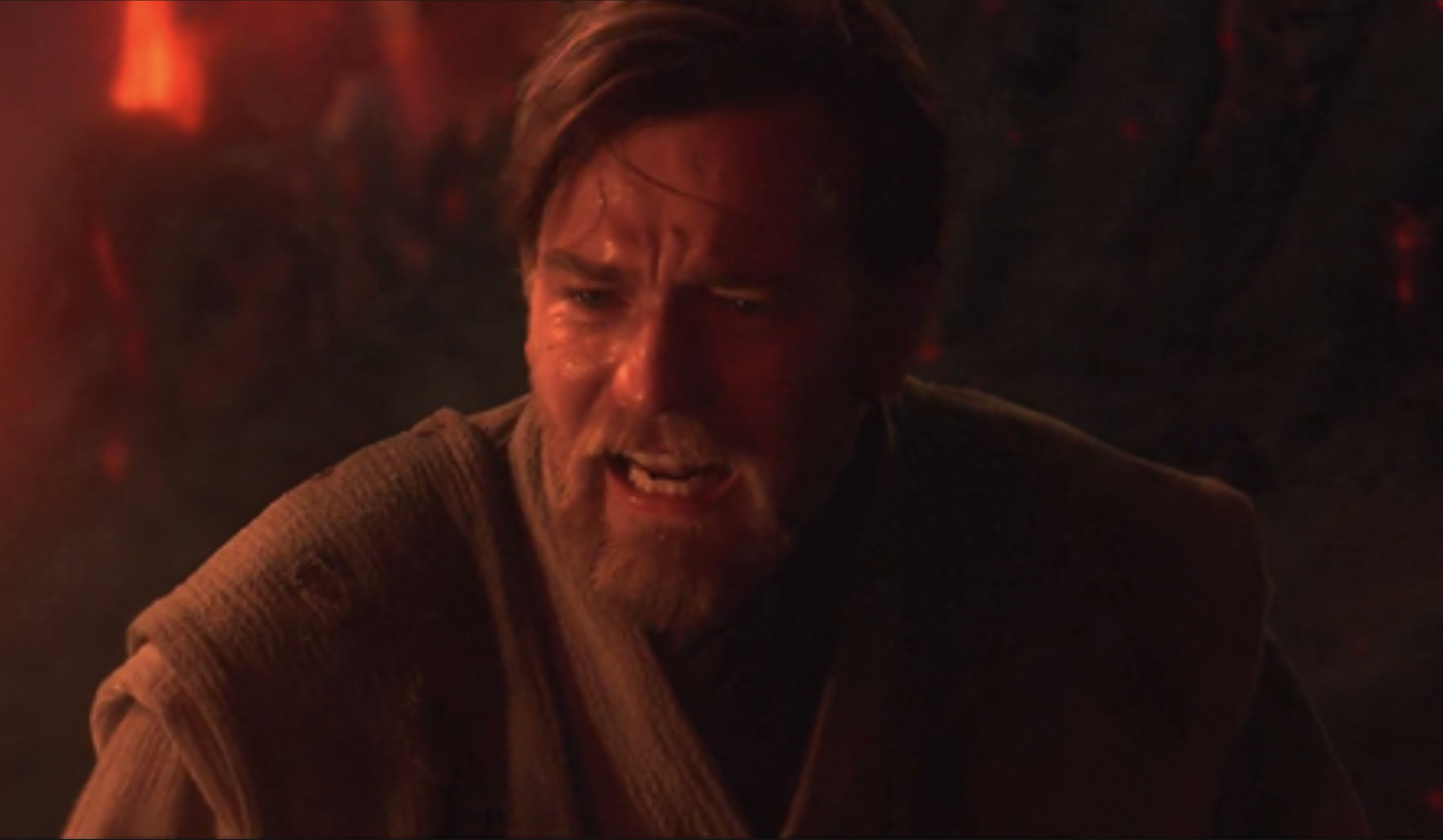 Obi-Wan Kenobi sad