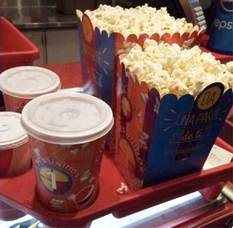 Palomitas Cines Nueva Normalidad