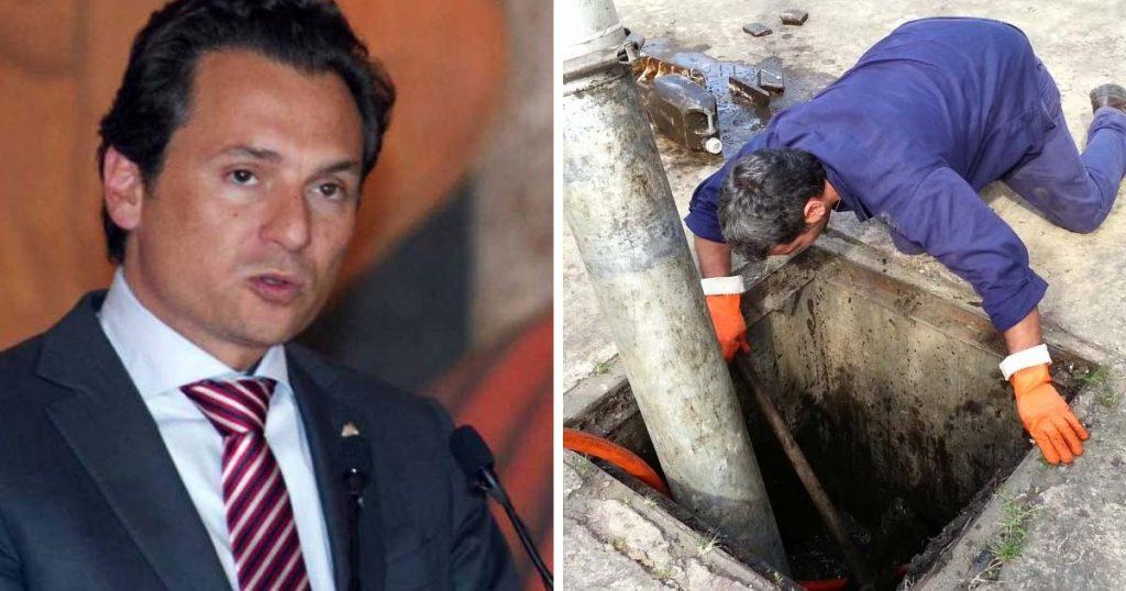 Plomeros reconocen labor de Lozoya por destapar la cloaca más grande de México