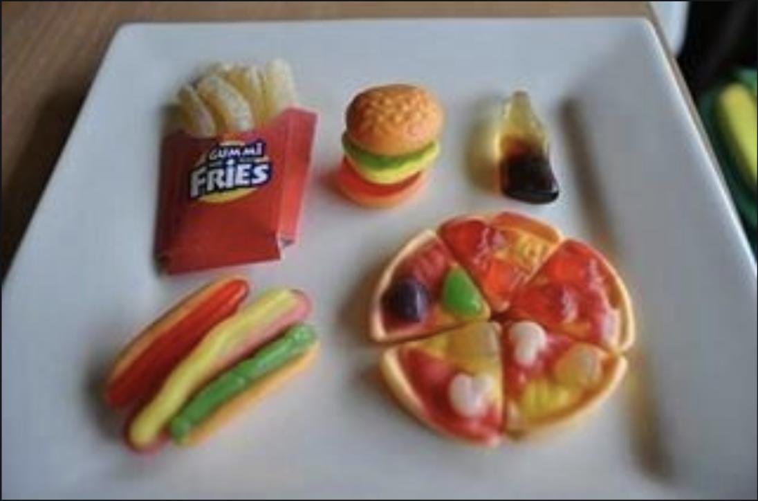 pizza hamburguesa gomitas // nota platillos