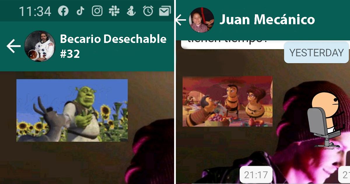 Shrek Bee Movie Stickers WhatsApp