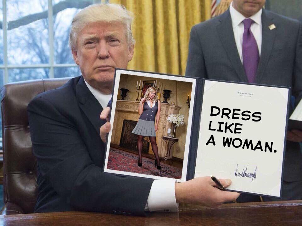 Trump Dress like a woman