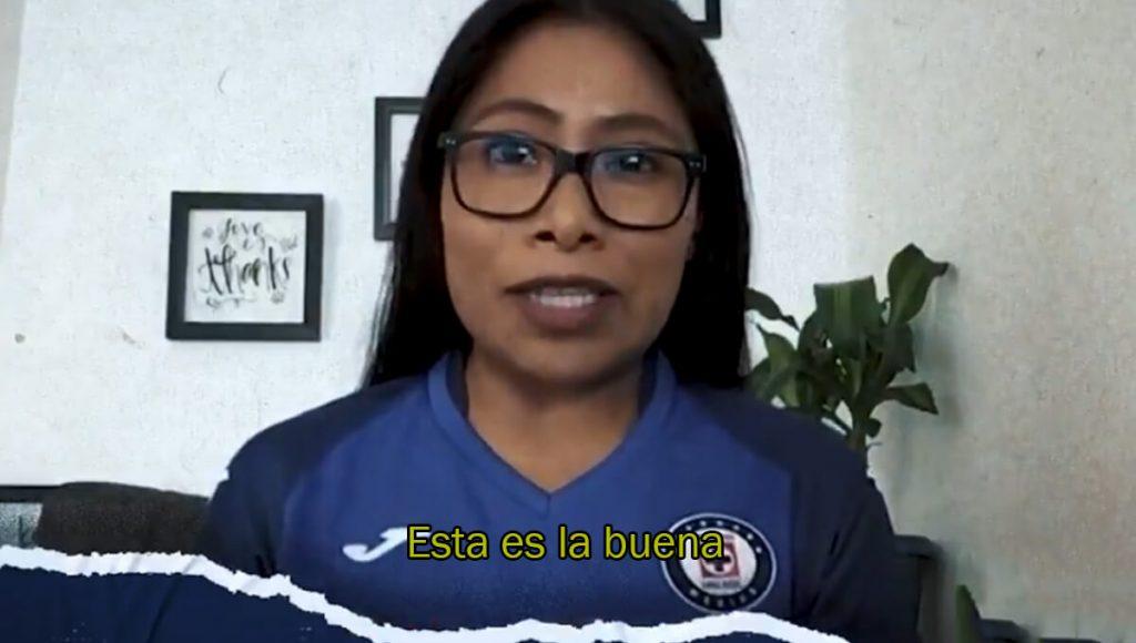 Momento exacto en que Yalitza Aparicio se declara fan de La Máquina