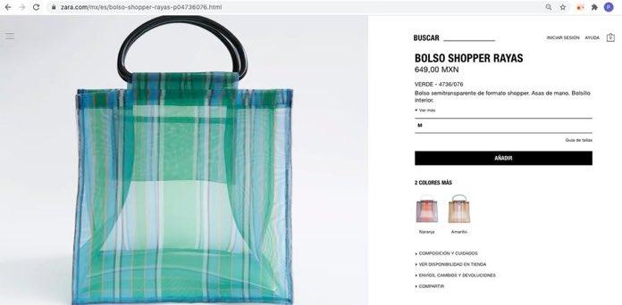 Zara lanza bolsa del mandado de moda de novedad por solo 700 pesitos, güerita