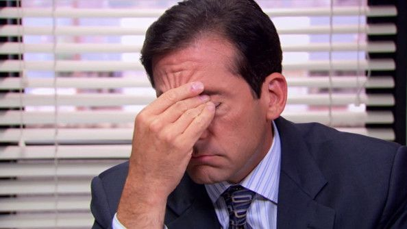 michael scott facepalm